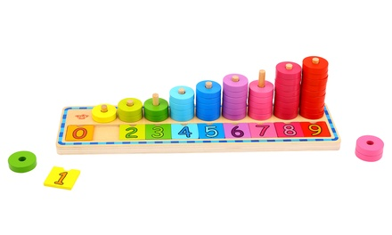 2in1 Tooky Toy MontessoriInspired Educational Wooden Counting Stacker