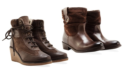 df9594c2b78 Redfoot Women's Wedge Ankle Boots or Slouch Boots for €37.99 On sale!