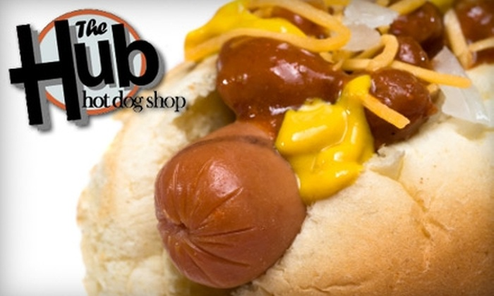 The Hub Hot Dog Shop - Bazetta: $5 for $10 Worth of Hot Dogs and More at The Hub Hot Dog Shop in Cortland