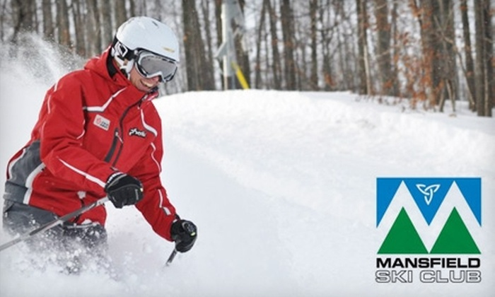 Mansfield Ski Club - Mansfield: $58 for Two Adult Lift Tickets (Up to $116 Value) or $23 for One Child Lift Ticket (Up to $46 Value) at Mansfield Ski Club