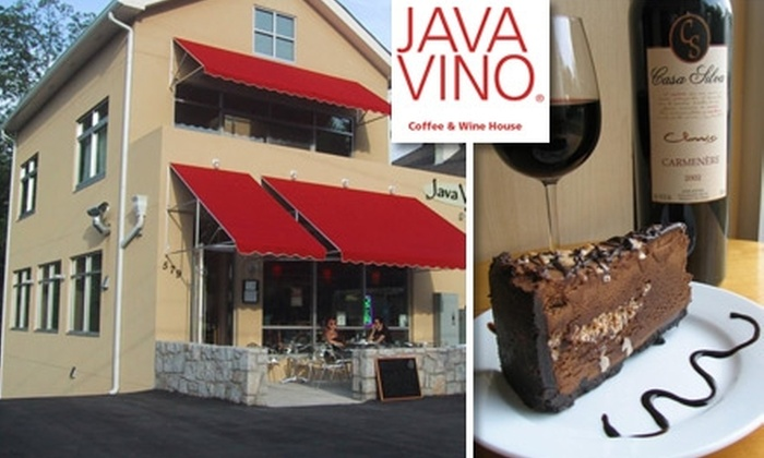 Java Vino - Poncey-highland: $15 for a Flight of Five Wines and Choice of Dessert, Cheese, or Hummus Plate at JavaVino