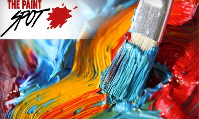 The Paint Spot - Ritchie: $25 for $50 Toward Art Workshops at The Paint Spot