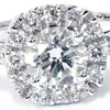 2.50 CTTW Cushion Cut Diamond Engagement Ring 14K Solid White Gold