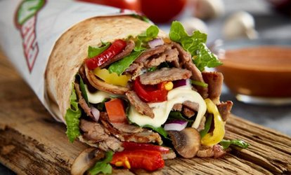 image for C$15 towards Food for Two or C$30 towards Food for Four at Pita Pit Kelowna. Two Options Available.