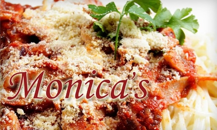 Monica's - Coralville: $10 for $20 Worth of American Comfort Food and Italian Specialties at Monica's