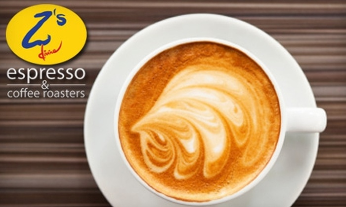 Z's Divine Espresso - Multiple Locations: $5 for $10 Worth of Coffee and More at Z's Divine Espresso