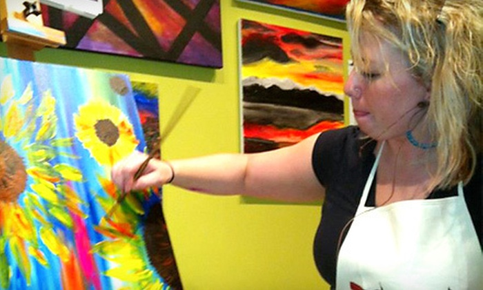 Wet Your Palettes - Hyattsville: BYOB Painting Class or Private Painting Party for up to 18 People at Wet Your Palettes in Hyattsville (Up to 52% Off)