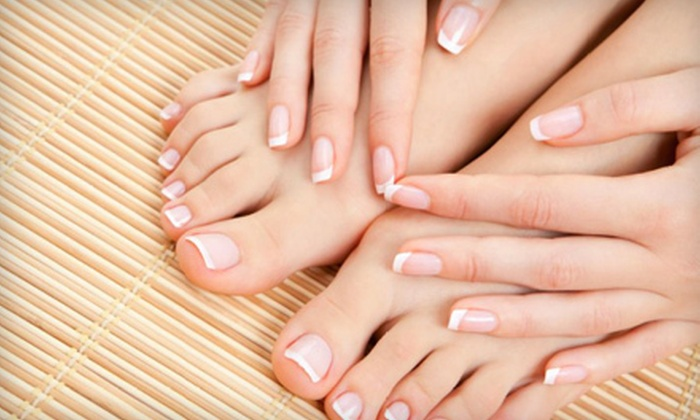 Shey Salon and Spa - West Omaha: Manicure or Mani-Pedi at Shey Salon and Spa (Up to 53% Off)