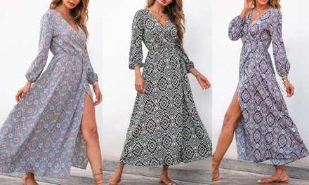 Women's Wrap-Up Boho Maxi Dress: One ($29) or Two ($49)