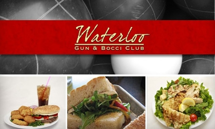 Waterloo Gun & Bocci Club - Stockton: $9 for Lunch and Two Bocce-Ball Games at Waterloo Gun & Bocci Club ($18 Value)