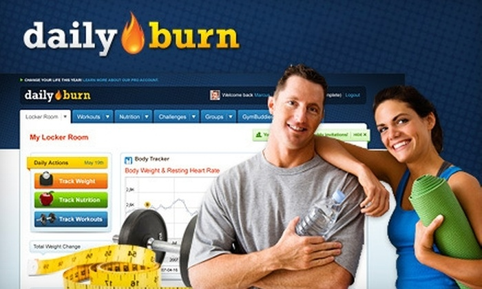 DailyBurn: $32 for a Pro Membership ($74.95 Value) or $99 for an Elite Membership ($197.95 Value) to DailyBurn, an Online Fitness System