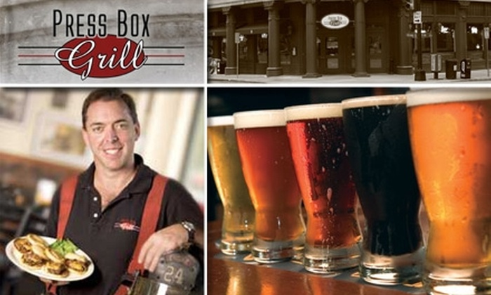 Press Box Grill - Downtown Dallas: $10 for $20 Worth of Fare & Drinks at Press Box Grill