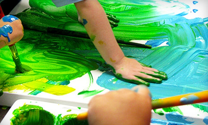 Mama & Me - Egleston Square: $35 for $80 Worth of Toddler Art Classes and Creative-Play Programs at Mama & Me in Jamaica Plain