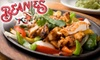 Beanies Mexican Restaurant - Port Washington: $10 for $20 Worth of Mexican Fare at Beanies Mexican Restaurant in Port Washington