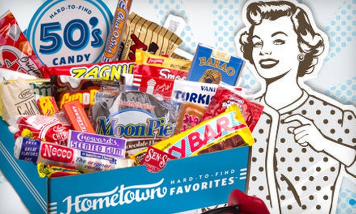 $24 for a Nostalgic Candy Gift Box   Groupon Goods