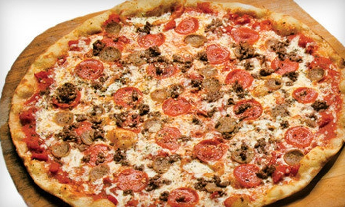 The Upper Crust Pizzeria - Multiple Locations: $10 for $20 Worth of Thin-Crust Pizza and Calzones at The Upper Crust Pizzeria. 14 Locations Available.