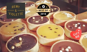 Remy & Violette Patisserie: Gourmet French Patisserie Tarts - 12 ($20) or 24 Tarts ($39) at Remy & Violette Patisserie, CBD (Up to $96 Value)