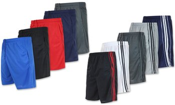 Real Essentials Men's Mesh Active Shorts with Pockets (5-Pack, S-2XL)