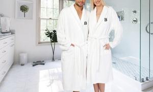Linum Monogrammed Block Letter Bath Robe