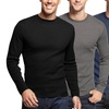 Men's Waffle-Knit Thermal Shirts (2-Pack)