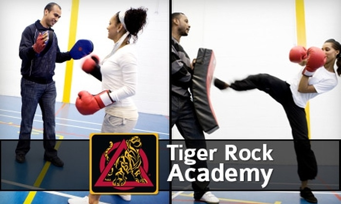 Tiger Rock Academy - Multiple Locations: $38 for One Month of Unlimited Kickboxing Classes with Gloves at Tiger Rock Academy