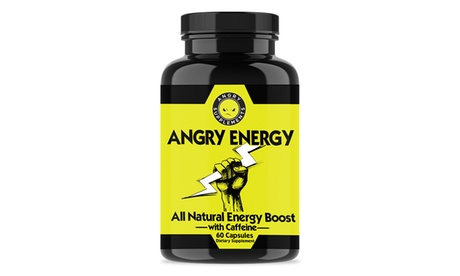 Angry Supplements Angry Energy Dietary Supplement with Caffeine and Garcinia Cambogia (60, 120, or 180-Count)