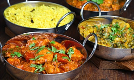 TwoCourse Indian Cuisine with Choice of Side Dish for Two, Four or Six at Spicy Kalkata