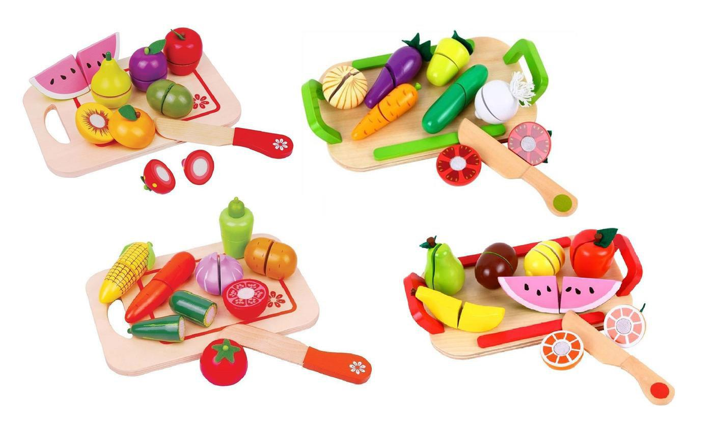 One or Two Lelin Vegetable and Fruit Wooden Chopping Board Sets