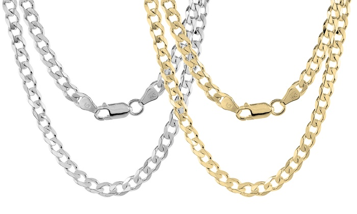"""2mm N530 1 Necklace Stainless Steel Curb Chain Necklace 24/"""""""