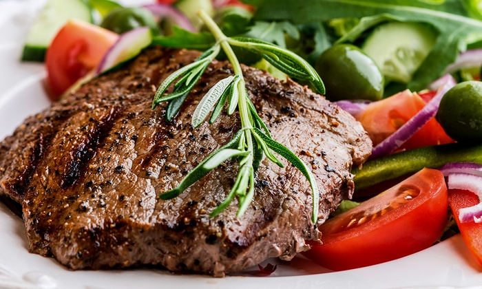 Sweet Waters Steak House - Downtown Westfield: $35 for $70 Worth of Upscale Steakhouse Cuisine for Dinner at Sweet Waters Steak House