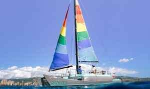 ManaKai Catamaran: Trade Winds, Early Bird, or Marine Life Sailing Trip for Two, Four, or Six from ManaKai Catamaran (Up to 56% Off)