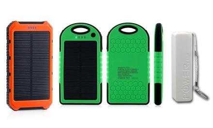 Fino a 3 powerbank ad energia solare disponibili in 4capacità