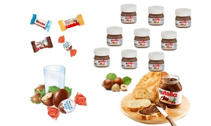 Nutella et chocolats Kinder