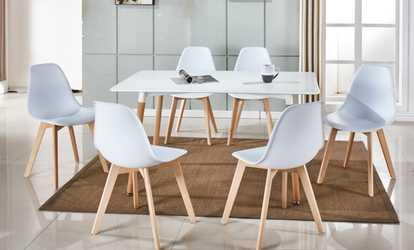 acheter sur groupon chaise scandinave trayl - Lot 6 Chaises Scandinaves2126