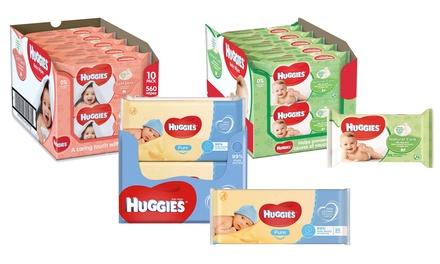 Salviettine Huggies umidificate per bambini, disponibili in 3 tipologie