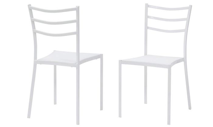 Fino a 81% su Set 4 sedie e tavolo Carl   Groupon