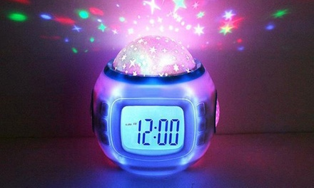 Starry Sky Projecting Alarm Clock: One ($16) or Two ($29.95)