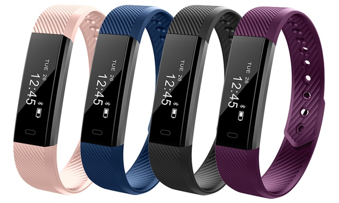 One or Two Aquarius AQFW02 Touch Screen Fitness Trackers with Optional Replacement Straps for £14.99