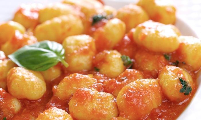 La Trattoria D'Italia - Highland Park: Pizza Dinner Including Pasta Entree, 12-Inch Pizza, Caesar Salad and Tiramisu at La Trattoria D'Italia (Up to 43% Off)