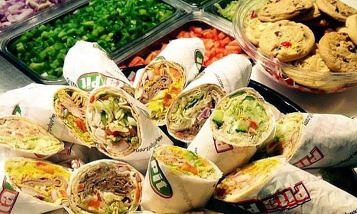 Pita Pit - Multiple Locations: Pita Meal for Two or Four, or Pita Catering Package for 10 at Pita Pit - Surrey (Up to 41% Off)