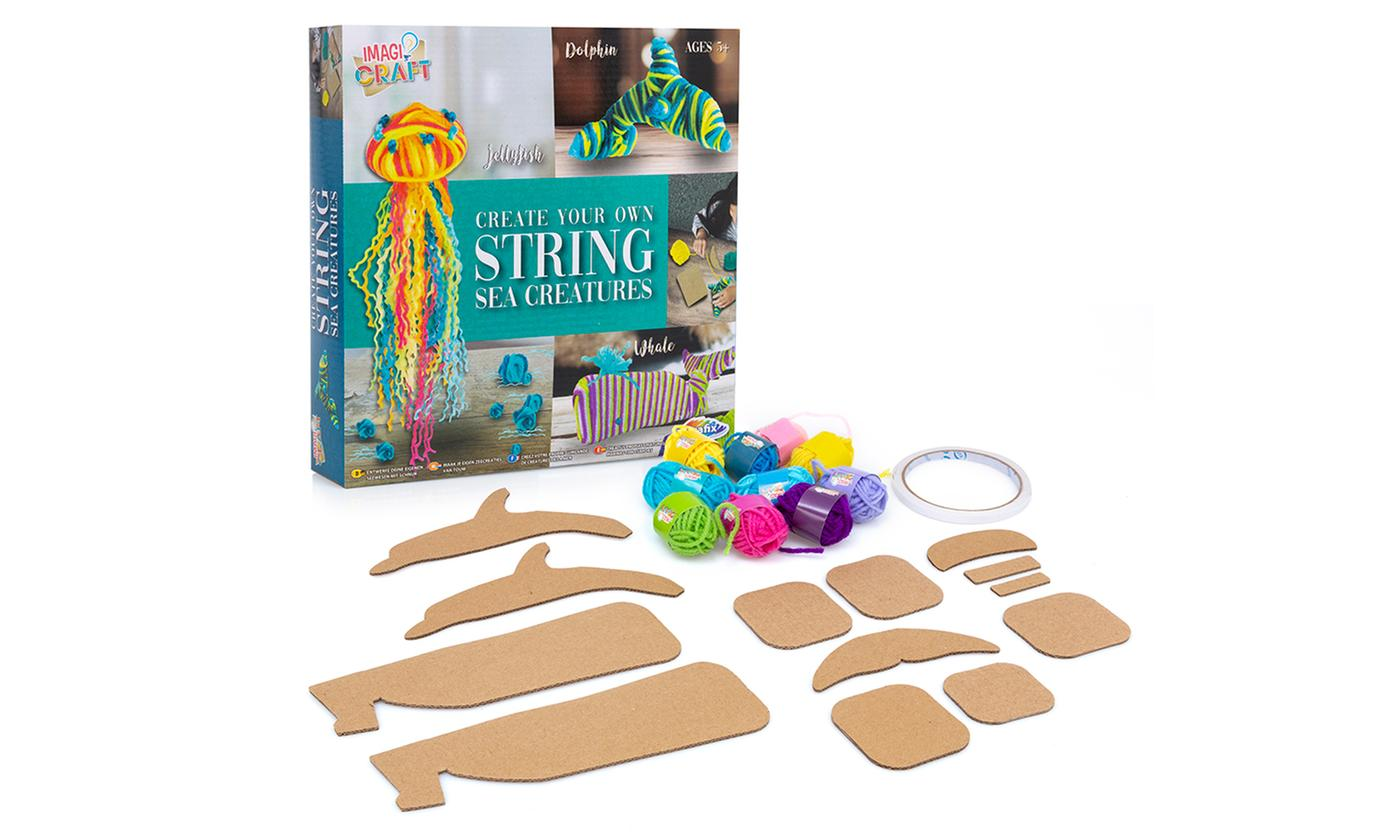 One or Two Create Your Own String Sea Creatures Craft Kits