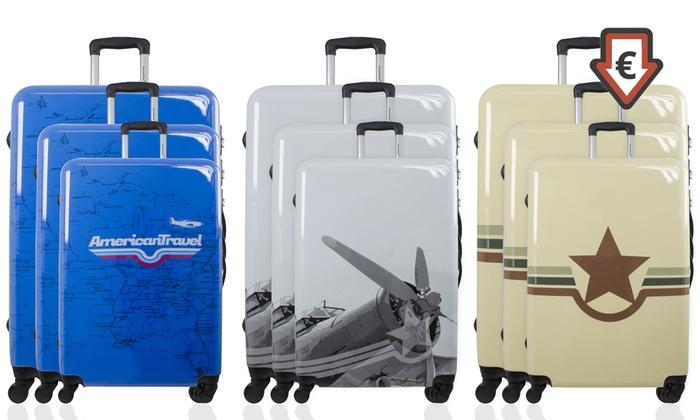 Practicar senderismo Mayordomo Stratford on Avon  1 o 3 maletas de policarbonato con cuatro ruedas dobles American Travel