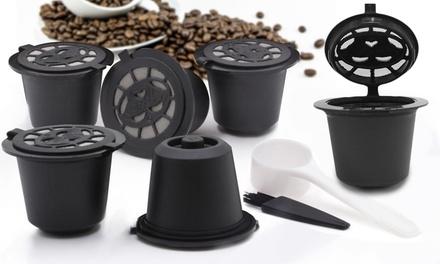 6 o 12 cápsulas de café reutilizables compatibles con máquina Nespresso
