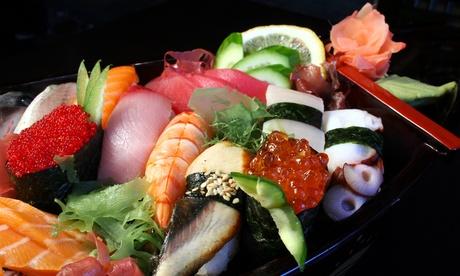 32 o 64 piezas de sushi variado para dos o cuatro personas con 1 o 2 entrantes y bebidas desde 24,95 € en Sushi King