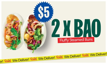 $5 for Choice of Two Baos at Roll'd - Surry Hills (Up to $11 Value)