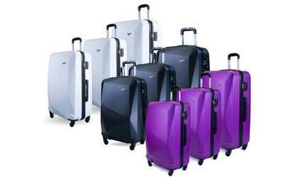 Shop Groupon 3-Pc Diamond Series Luggage Set d5d5256100