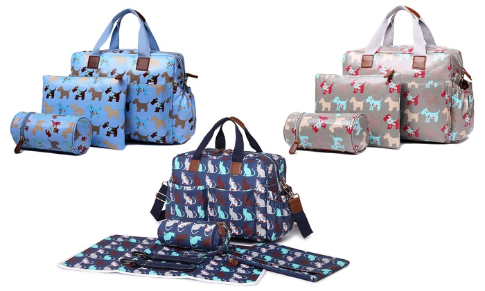 Miss Lulu Four-Piecec Changing Bag Set from £18