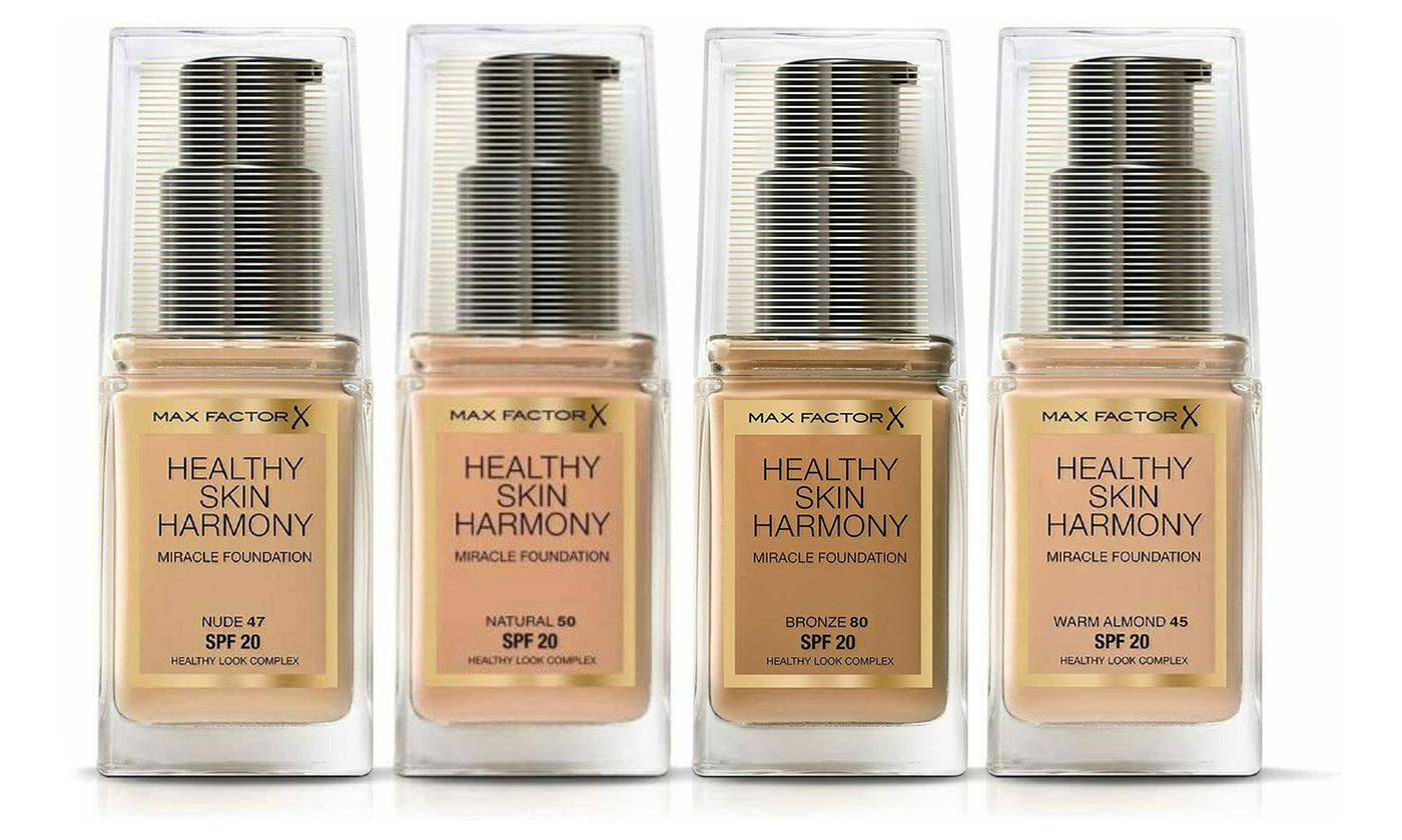 Three-Pack of Max Factor Healthy Skin Harmony Miracle Foundation
