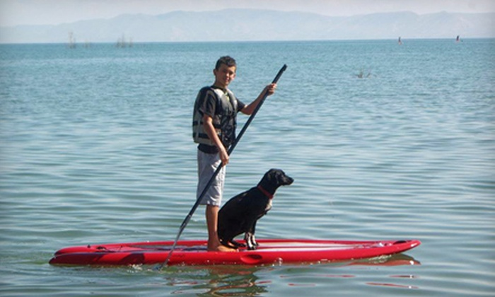 Bear Lake Water Adventures - Garden City: Two or Four Hours of Standup Paddleboarding or Kayaking from Bear Lake Water Adventures (Up to 60% Off)