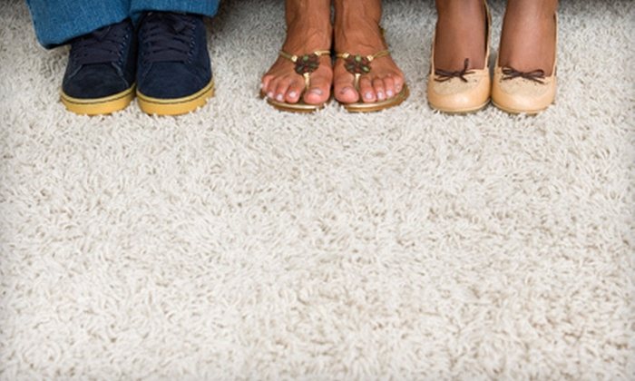 AJ Rose Carpets & Flooring - Multiple Locations: Three Rooms of Carpet Cleaning, Area-Rug Cleaning, or Both from AJ Rose Carpets & Flooring (Up to 63% Off)